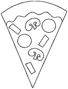 Pizza Outline (JK0245) Embroidery Design by JesseKate Designs
