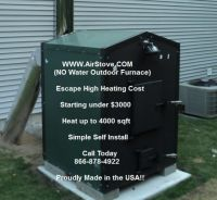 Outdoor FORCED AIR Wood Burning Furnace FRESNO CALIFORNIA