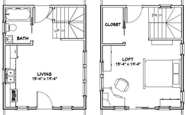 16x20 Tiny House 581 Sq Ft Pdf Floor Plan Dallas