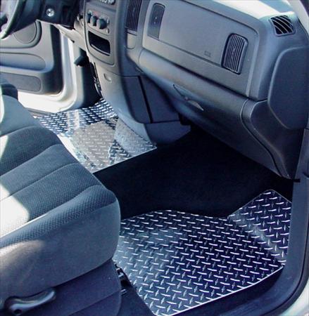 RAM 1500 2500 diamond plate aluminum floor mats Custom