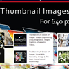 Thumbnail Images for 640px. Thumbnail Size Square Format. Image size: 100x100 px