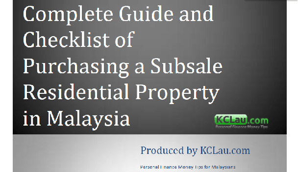 Complete Guide And Checklist Of Purchasing A Subsale