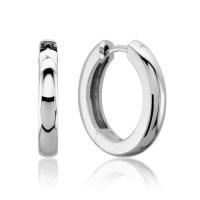 Lux 14k White Gold 3MM Hinged Hoop Earrings   Lux Jewelers