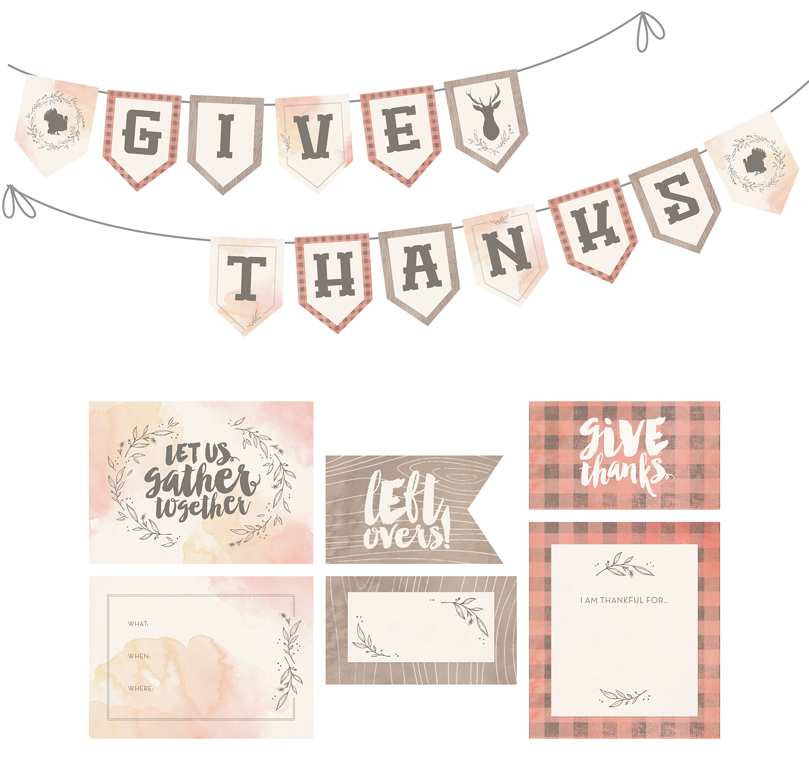 Free Printables Thanksgiving Banners Amp More