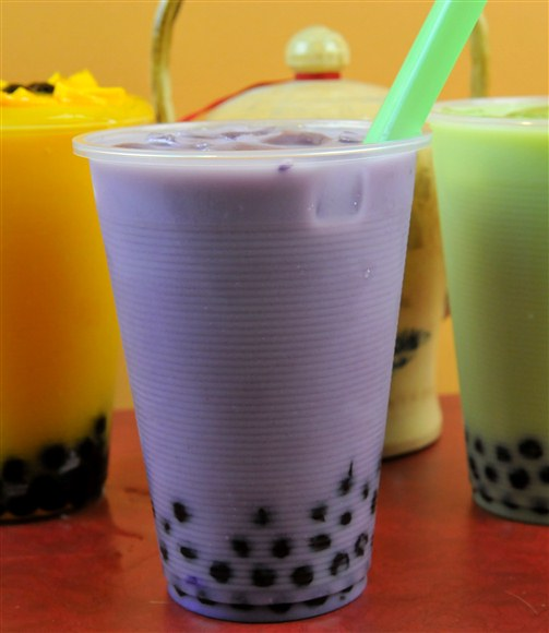 Taro Milk Tea with Tapioca