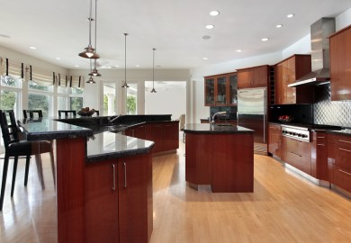 White Kitchen Light Floors