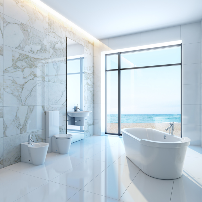 26 Pictures Of Tranquil And Luxurious White Bathroom Designs