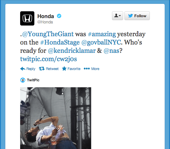 Thank Community on Social Media: Honda