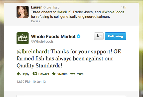 Thank Community on Social Media: WholeFoods