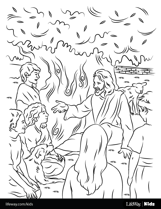 Free Coloring Sheet: Jesus Loved the Children