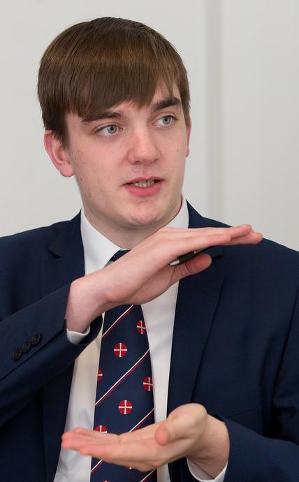 Michael Pryke es el presidente juvenil de la Iglesia Metodista en Gran Bretaña.  Foto de Mike DuBose, UMNS.