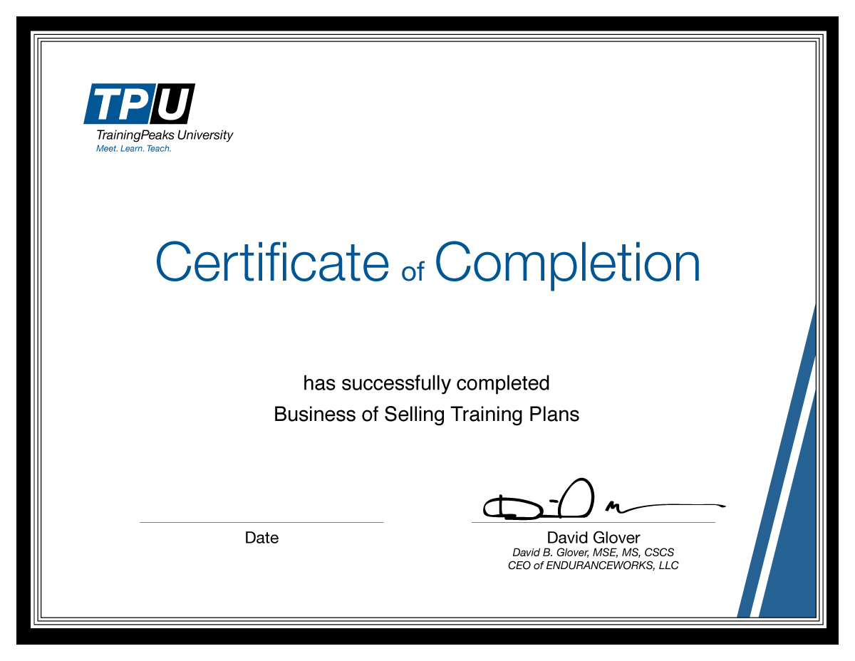 Trainingpeaks University Accredible Certificates