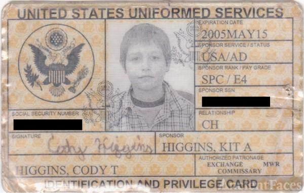 military ID dependent Photo