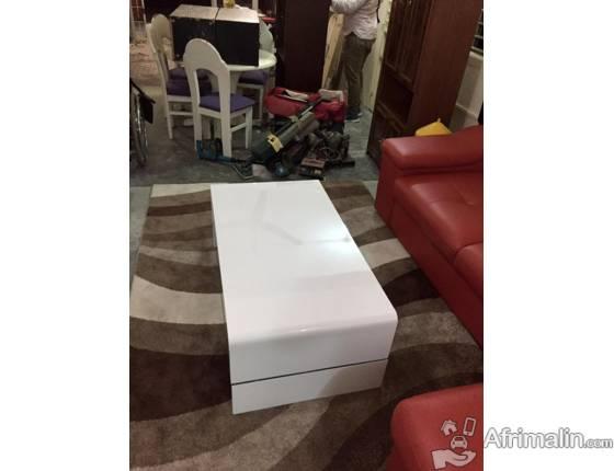 table basse laque blanc pas cher