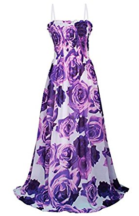 MayriDress Women Leopard Print Maxi Dress Beach Party Wedding Guest Summer Long