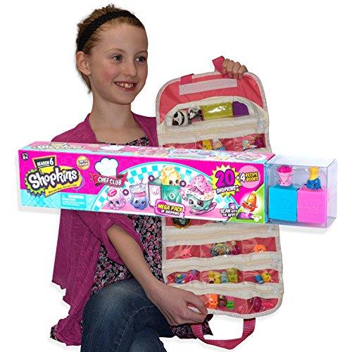 EASYVIEW Toy Organizer with Shopkins Season 6, 20 Piece Mega Pack Bundle