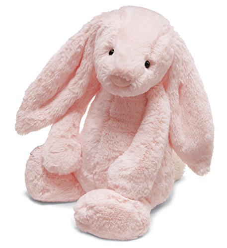 Jellycat Bashful Pink Bunny Chime Rattle, 12 inches