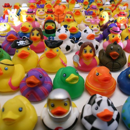 2″ Rubber Duck Assortment : package of 100