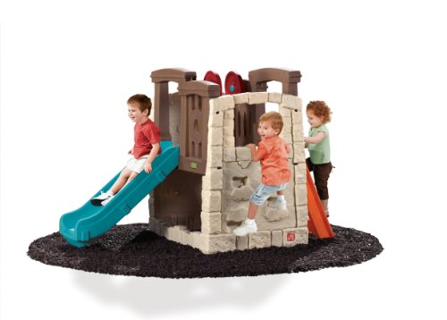 Step2 Naturally Playful Woodland Climber – Kids Durable Plastic Slides and Climbers, Multicolor