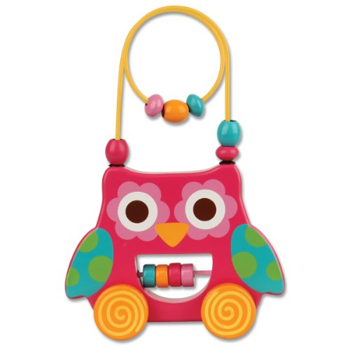 Stephen Joseph Owl Rolling Wire and Bead Toy