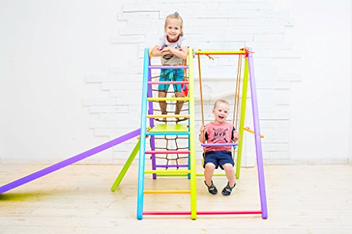 Panda Indoor Playground by EZPlay – Sturdy Ash Wood Indoor