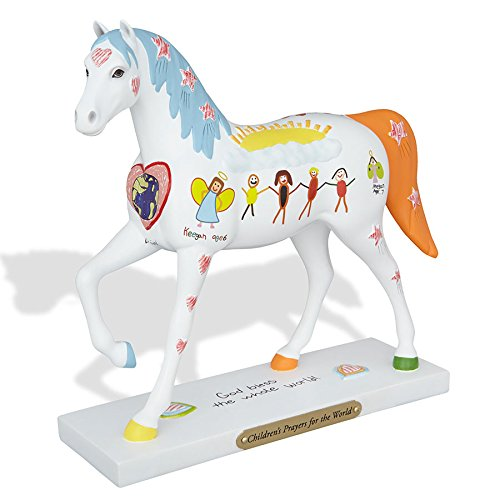 Enesco Trail of Painted Ponies Children's Prayers for the World Figurine, 7″