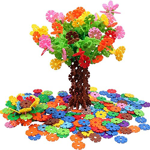 Brain Flakes 350 Piece Interlocking Plastic Disc Set Kaimao Building Blocks with Gears for Kids Boys Girls Toddlers