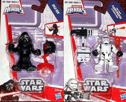 Playskool Heroes Galactic Heroes Star Wars Kylo Ren & First Order Flametrooper Set