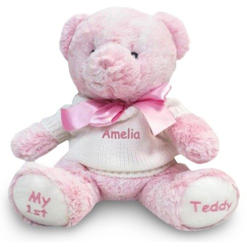 Personalized My 1st Teddy Bear (Pink)
