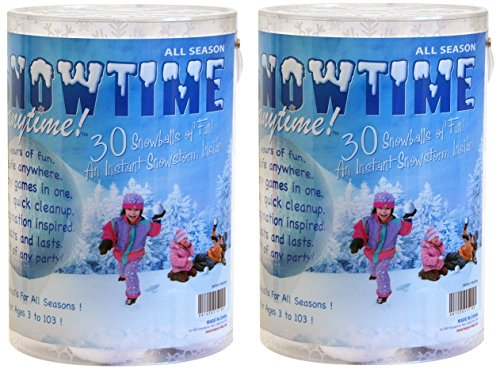 Snowtime Anytime Indoor Snowball Fight Snowballs, Set of 60