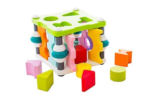 Smart Kid Wise Elk Wooden Toy Shape Sorter Square