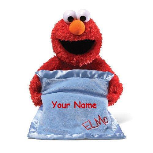 Personalized Animated Sesame Street Peek-A-Boo Elmo Plush Stuffed Toy Animal
