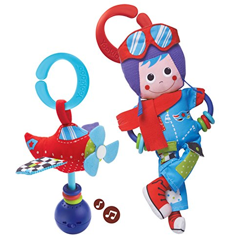Baby Rattle And Plush Set – Musical Airplane And Pilot Play Set (3 mo+)