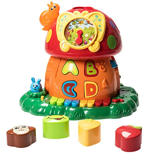 Prextex Christmas Toy Gift Electronic Magic Mushroom House- A Fun and Educational Activity Center Toy for Infants and Toddlers with Lights Sounds and Action Best Christmas Gift