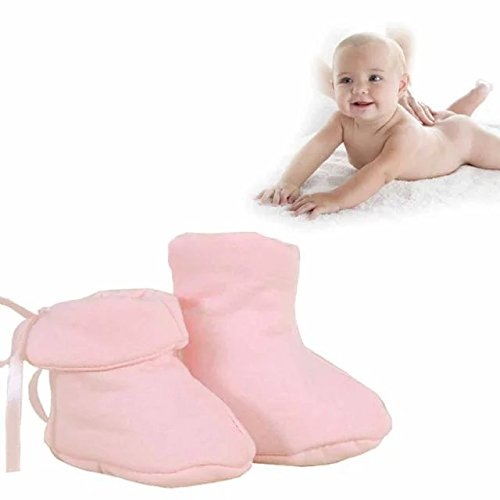 Baby Newborn Shoes Socks Cotton Toddler Shoes Socks Winter Thicker Warmer for 0-6 Months Kids Boys Girls(Pink)