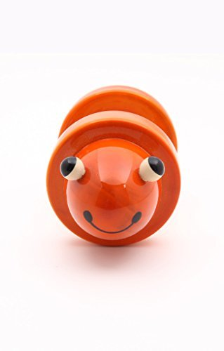 Caravan Fro-Gee: Handcrafted Wooden Frog Rolling Rattle Toy, Perfect Gift for Toddlers