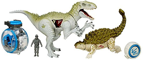 Jurassic World Capture Vehicle Indominus Rex vs Ankylosaurus Exclusive Vehicle Set
