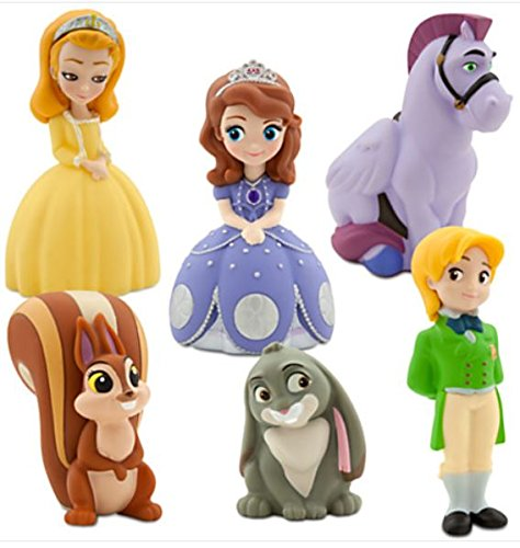 Sofia the First Large Bath Toy Set with Carrying Case- Disney 6 Pieces – Sophia