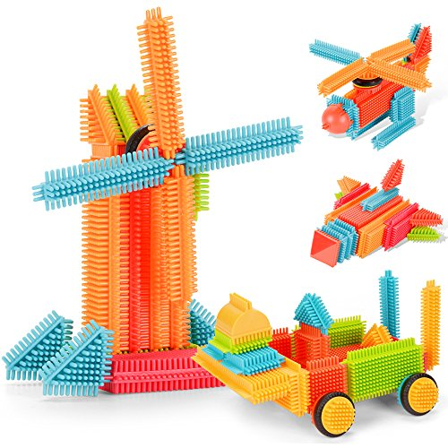 NextX Bristle Blocks Baby Building Blocks Set Toy for Kids 2 Years Old 150 Piece