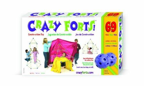 Original Crazy Forts 69 Piece Set – Includes Bonus Pop Toob! by Everest
