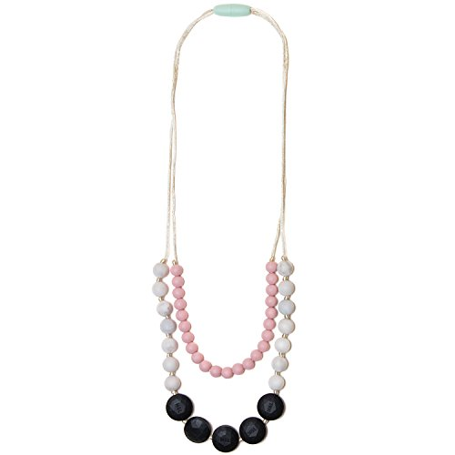 Mama & Little Lana Silicone Baby Teething Necklace for Moms – Nursing Necklace in Marble – Teething Beads and Baby Teething Toys