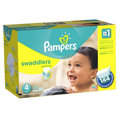 Pampers Swaddlers Diapers SizeSize 4 (22–37 lb), 144 Count