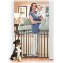 Summer Infant Multi-Use Extra Tall Walk-Thru Baby Gate – Bronze