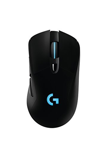 Logitech G703 LIGHTSPEED Wireless Gaming Mouse, Ergonomically Designed, RGB Lighting, 12,000 DPI w/ no Smoothing, 10g Removable Weight, with POWERPLAY Wireless Charging Compatibility