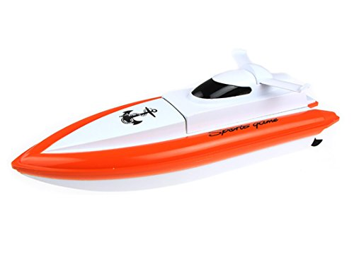 CSFLY Rc Boat Only Works In Water With High Speed-Orange(No Reply on the Land.)