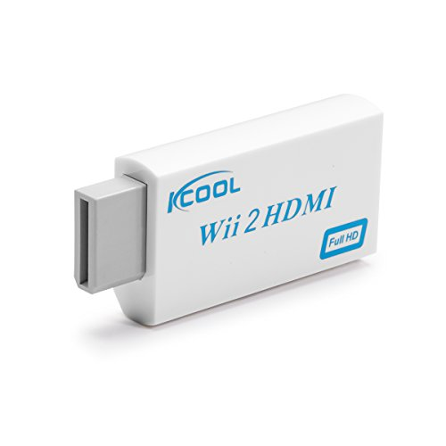 KCOOL Wii to HDMI Converter Output Video Audio Adapter – Supports All Wii Display Modes (NTSC 480I, 480P,PAL 576I), Best Compatibility and Stability