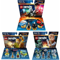 Harry Potter Team Pack + Jurassic World Team Pack + Scooby Doo Team Pack – Lego Dimensions (Non Machine Specific)