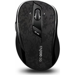 Arion Rapoo 7100P 5.8GHz Wireless Optical Mouse With 4D Scroll Wheel Programmable Buttons – Black