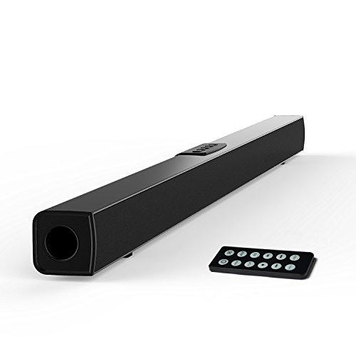 TV Sound Bar, Meidong Bluetooth Soundbar with Remote Control, 36 inch 2.0 Channel Home Theater Speakers, Wireless and Wired Bluetooth Audio Speakers for TV/PC/ Phones/Tablets/ Echo dot (2017 Model)