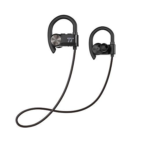 Bluetooth Earbuds, TaoTronics Sport Headphones with Adjustable Earhooks, Wireless Earphones for Running Gym Workout (IPX5 Waterproof & SweatProof, aptX Lossless Sound, 8 Hours Playtime)